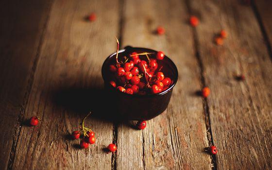 ягоды, красные, маленькие, тарелка, миска