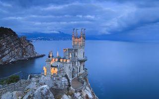 Бесплатные фото замок,ласточкино гнездо,крым,скала,берег,море,стиль