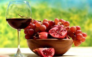 Бесплатные фото гранат,вино,виноград,фрукты