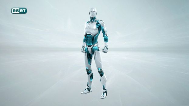 Photo free eset, robot, gray