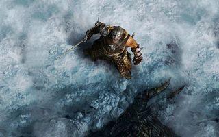 Бесплатные фото человек,воин,меч,охота,добыча,снег,шлем