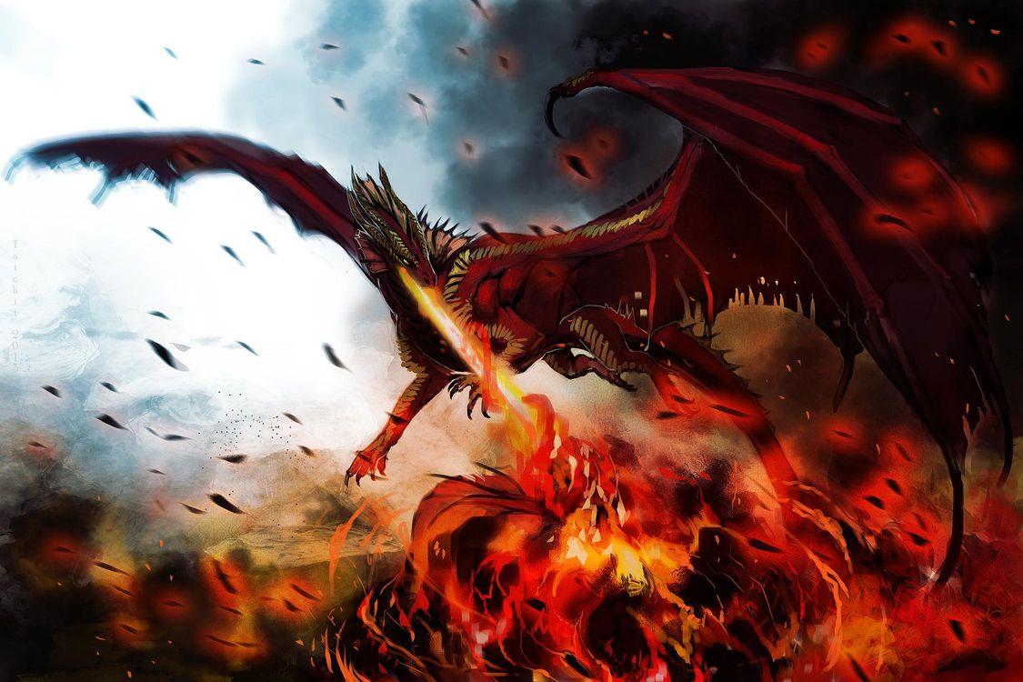 Фото бесплатно дракон, hellfyre, арт, монстр, крылья, фэнтези, разное