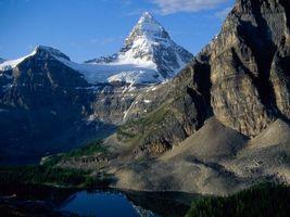 Бесплатные фото горы,высокие,снег,вода,небо,облака,природа