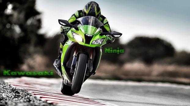 Фото бесплатно kawasaki, ninja, мотоцикл, спорт, мотоциклы