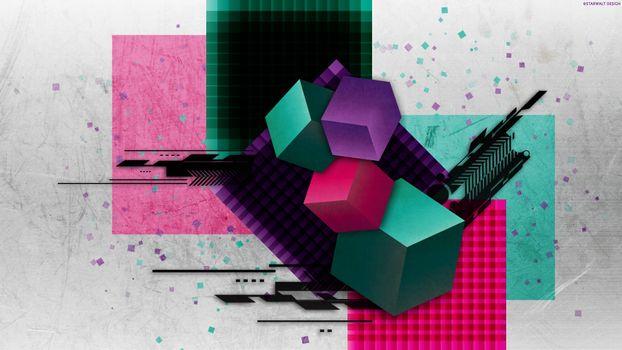 Фото бесплатно кубы, квадраты, линии