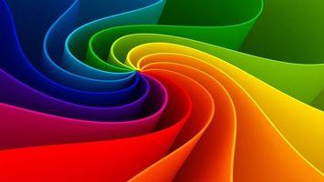 Бесплатные фото линии,полоски,цвета,радуга,градиент,объем,фигура