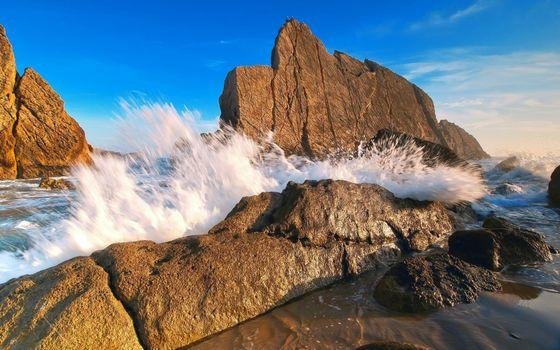 Фото бесплатно море, скалы, прибой