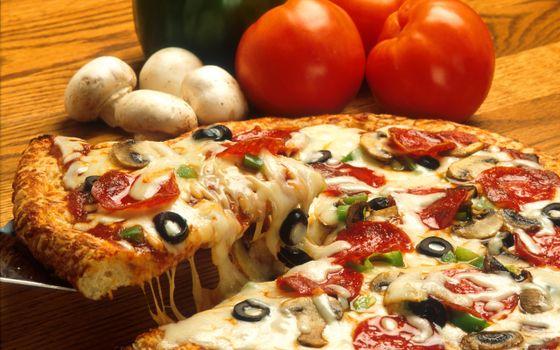 Фото бесплатно пицца, тесто, грибы