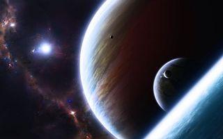 Бесплатные фото планетарные миры,планеты,спутники,туманность,звёзды,вселенная,космос