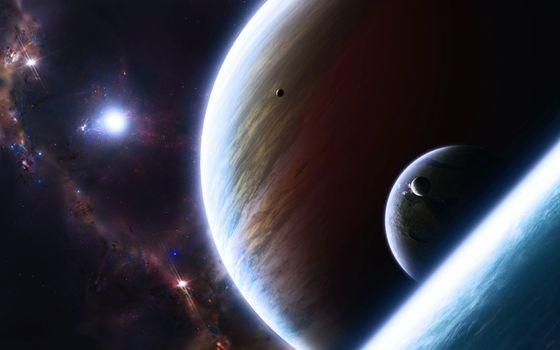Фото бесплатно планетарные миры, планеты, спутники