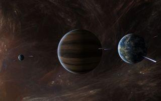 Фото бесплатно планеты, спутник, кометы
