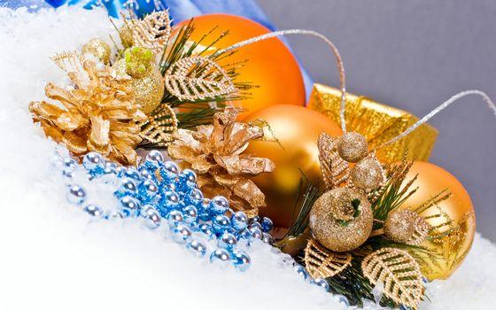 Бесплатные фото шарик,мишура,бусинки,елка,иголки,разное