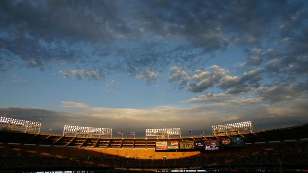 Photo free stadium, lanterns, sky