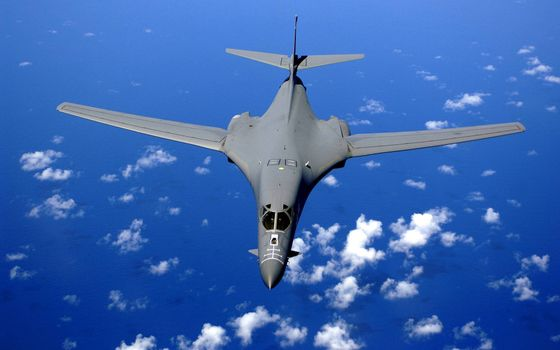 Photo free strategic bomber, cockpit, wings