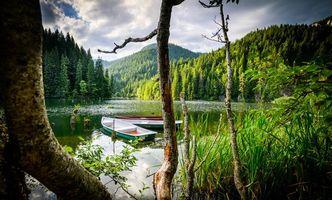 Заставки водоём, озеро, лодки