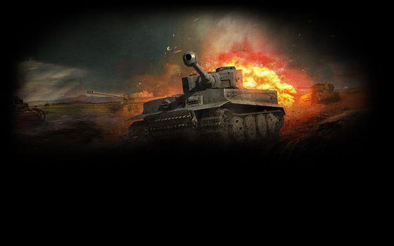 Photo free world of tanks, tanks, explosion