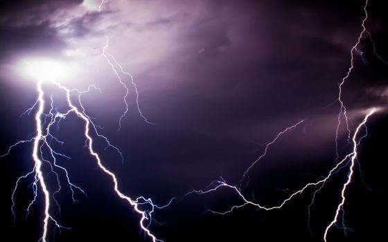 Фото бесплатно блискавка, небо, стихія