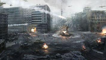 Бесплатные фото call of duty modern warfare 3, германия, война, город, берлин