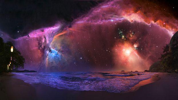 Фото бесплатно туманность, цериона, скопление звезд