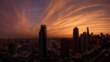 Фото бесплатно город, закат. небо, вечер