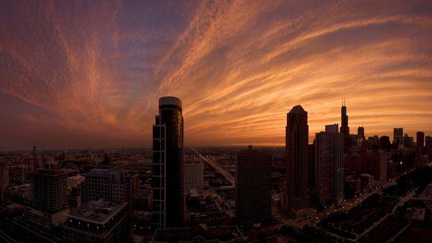 Заставки город, закат. небо, вечер
