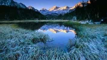Фото бесплатно озеро, горы, трава