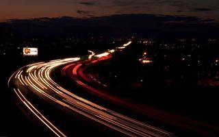 Бесплатные фото дорога,свет,скорость,машины,город,вечер