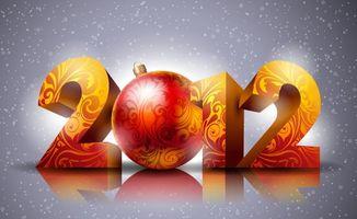 Бесплатные фото 2012, надпись, новогодняя, новый год