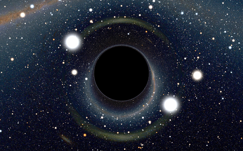 Обои черная дыра, монстр, млечный путь, планета