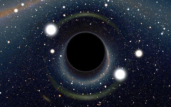 Фото бесплатно черная дыра, монстр, млечный путь