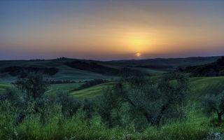 Фото бесплатно долина, холмы, деревья