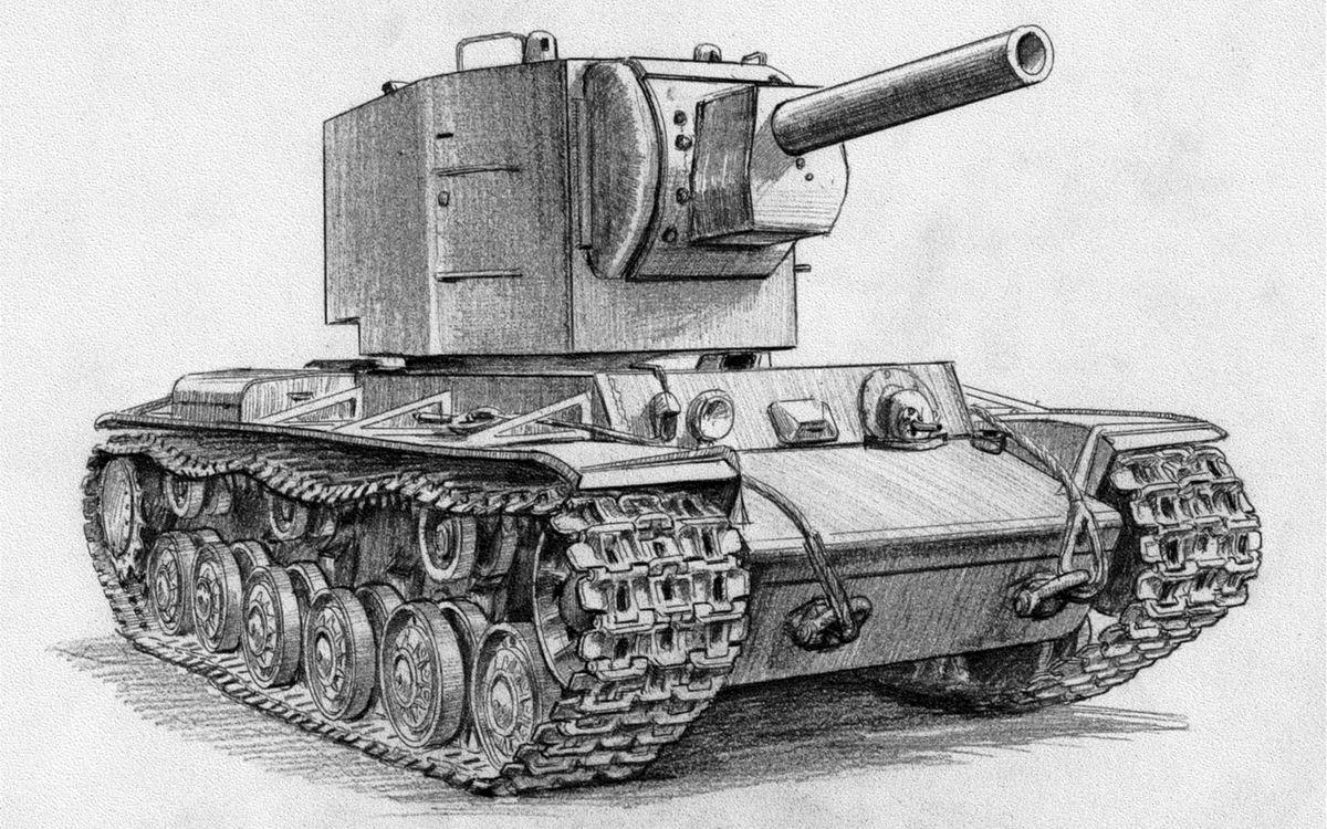 Фото бесплатно танк, кв-2, wot, world of tanks, рисунок, разное