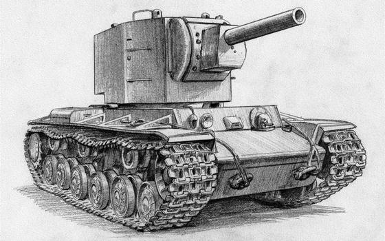 Бесплатные фото танк,кв-2,wot,world of tanks,рисунок