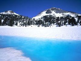 Бесплатные фото горы,снег,деревья,небо,вода,природа