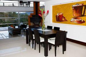 Бесплатные фото гостиная,стол,столы,стулья,столовая,картина,букет