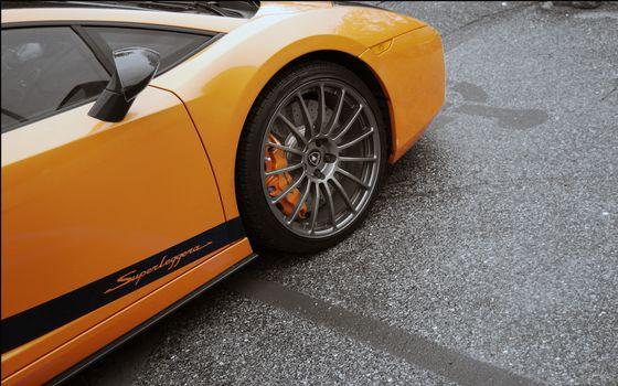 Бесплатные фото ламборджини,галлардо,оранжевый,диски,суппорт,зеркало,машины