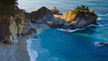 Заставки пляж, волны, вода