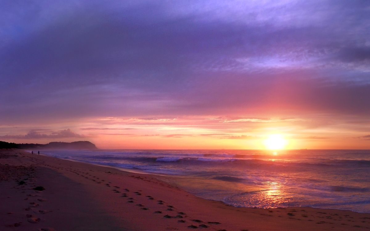 Обои солнце, вода, берег картинки на телефон