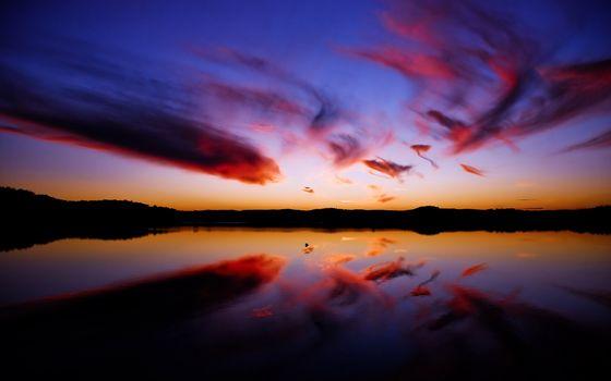 Photo free blue, water, horizon