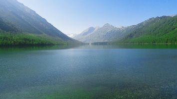 Фото бесплатно озеро, лес, деревья, вода, волны, листья, зелень, небо, пейзажи