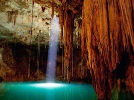 Фото бесплатно пещера, свет, вода