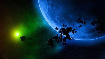 Бесплатные фото планета,спутник,солнце,свет,лучи,звезды,камни