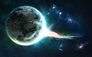 Бесплатные фото планета,земля,луна,звезды,туманность,созвездия,галактика