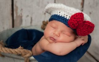 Бесплатные фото ребенок,малыш,спит,берет,вязаный,канат,ситуации