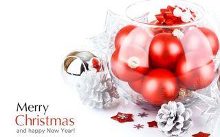 Бесплатные фото шарики,красные,ягоды,фон,белый,ветки,аромат