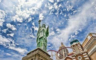 Бесплатные фото статуя свободы,памятник,америка,сша,небо,голубое,дома