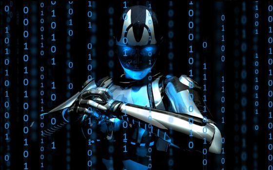 Фото бесплатно цифровой робот, цифры, неоника