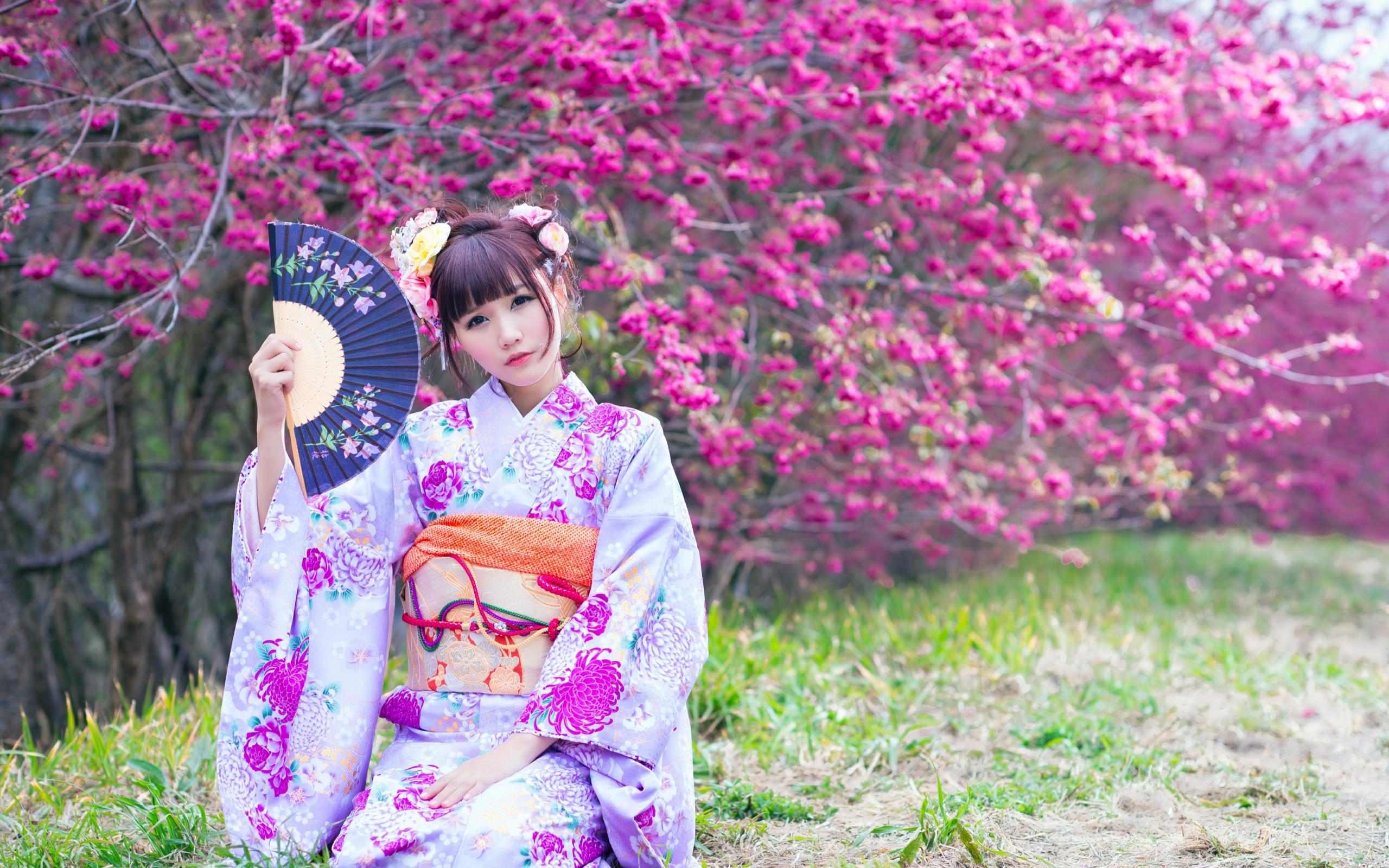 Фото красивые японки в кимоно