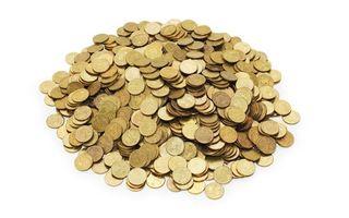 Фото бесплатно золотые, монеты, кучка