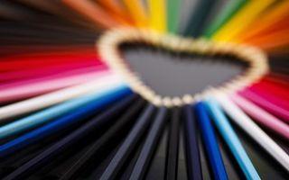 Бесплатные фото сердце,любовь,настроения,сердечко,карандаши,love